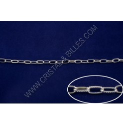 Chain cable link 9x5mm, Argent