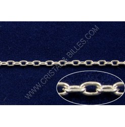 Chaine ovale plate 2x1.5mm,...