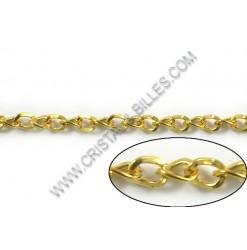 Chaine twist plate 6x4mm,...