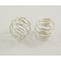 Bead metal cage 9mm, Silver