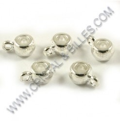 Charm hanger 9x5mm, Silver