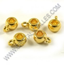 Charm hanger 9x5mm, Gold