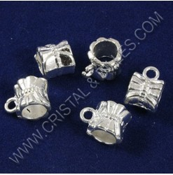 Charm hanger 11x07mm, Silver