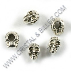 "Metal bead ""Skull"", 12x9mm,..."