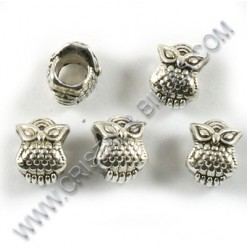 "Metal bead ""Owl"", 10x8mm,..."