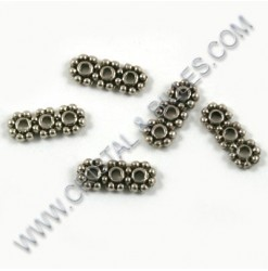 Spacer 3holes 10x4mm,...