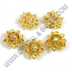 Spacer flower 2 holes with...