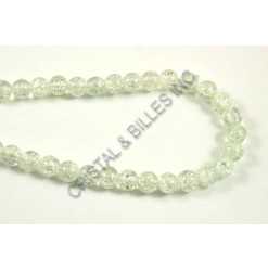 Glass bead 08mm Crackle,...