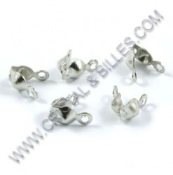 Bead tip 8x4mm, Silver