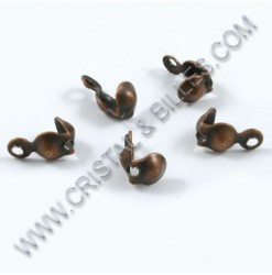 Bead tip 8x4mm, Antique copper