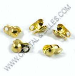 Bead tip 8x4mm, Gold