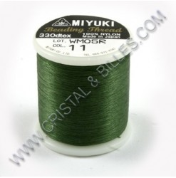 Nylon thread size B, Green 11