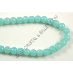 Glass round Turquoise 08mm...