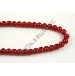 Glass bead 06mm Crackle, Red