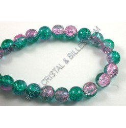 Glass bead 06mm Crackle,...