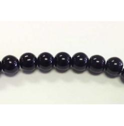 Perle verre 03mm, Noir