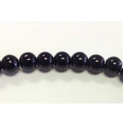 Perle verre 04mm, Noir