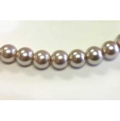 Perle verre 06mm, Beige