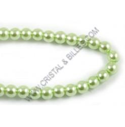 Perle verre 04mm, Vert pâle