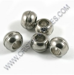 Beads 12x8.5mm, Stainless...