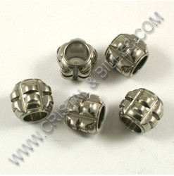 Bead 10.5x11mm, Stainless...