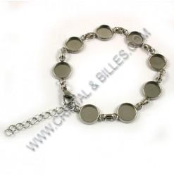 """Bracelet """"setting 10mm""""..."""