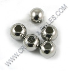 Bead 06x05mm, Stainless 304...