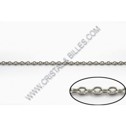 Ovale 2 x 2mm, Stainless...