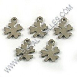 Charm clover leaf 10x08mm,...