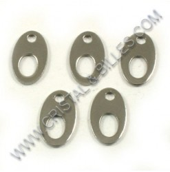 Charm 12x07mm, Stainless...