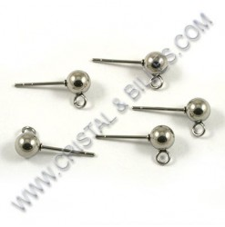 Earring stud ball 5mm,...