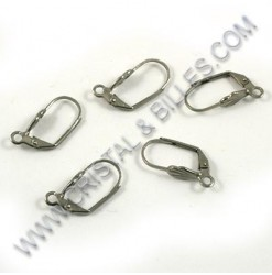 Earring lever leaf 18x4mm,...