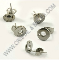 Earring stud 8.5x2mm,...