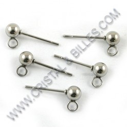 Earring stud ball 4mm,...
