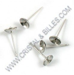 Ear stud bowl 06mm with...