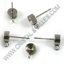 Ear stud for chaton 06mm,...