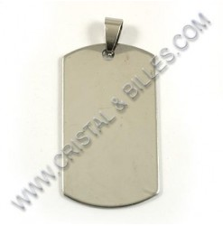 Pendant 43x24mm, Stainless...