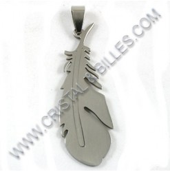 Pendant feather 17x48mm,...