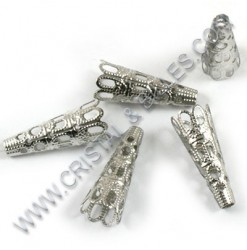 Bead cap filigree 22x08mm,...