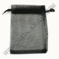 Organza 08X10cm, Noir