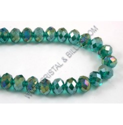 Glass bead abacus, Emerald...