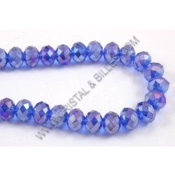 Glass bead abacus, Blue AB,...