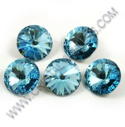 1122 10mm Rivoli, Aquamarine
