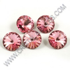 1122 10mm Rivoli, Light Rose
