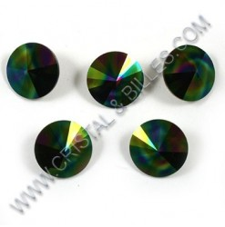 1122 10mm Rivoli, Rainbow Dark