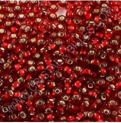 Rouge centre argent
