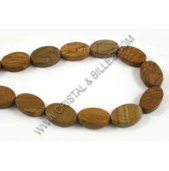 Wood lace stone ovale plat...