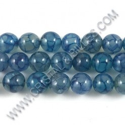 Agate dragon veins Blue,...
