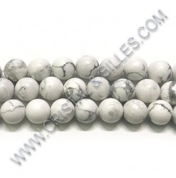 Howlite White, 08mm -...