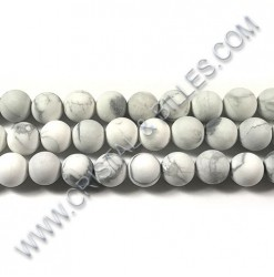 Howlite White matte, 06mm -...